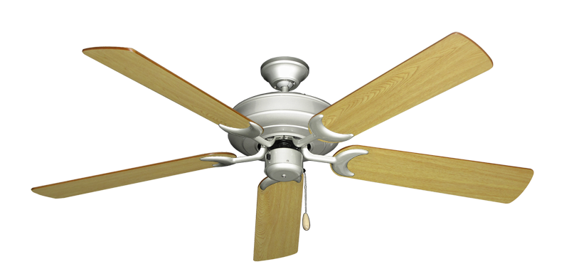 """Picture of Raindance Brushed Nickel with 56"""" Honey Oak Blades"""