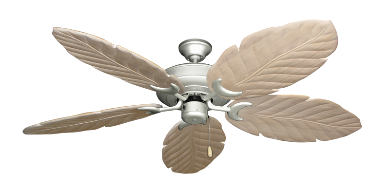 "Picture of Raindance Brushed Nickel with 58"" Series 100 Arbor Whitewash Blades"