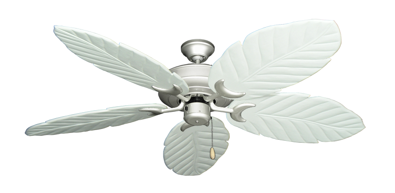 "Picture of Raindance Brushed Nickel with 58"" Series 100 Arbor Pure White Blades"