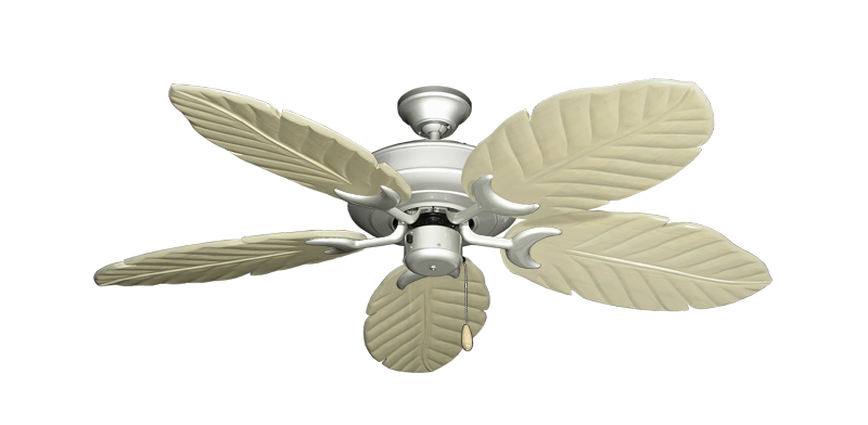 "Picture of Raindance Brushed Nickel with 52"" Series 125 Arbor Whitewash Blades"