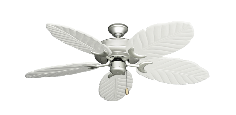 "Picture of Raindance Brushed Nickel with 52"" Series 125 Arbor Pure White Blades"