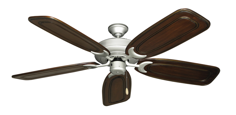 """Picture of Raindance Brushed Nickel with 58"""" Series 800 Arbor Chestnut Blades"""