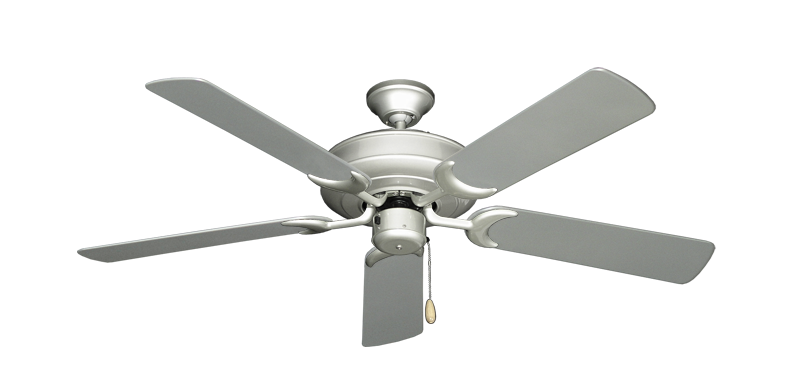 """Picture of Raindance Brushed Nickel with 52"""" Outdoor Brushed Nickel Blades"""