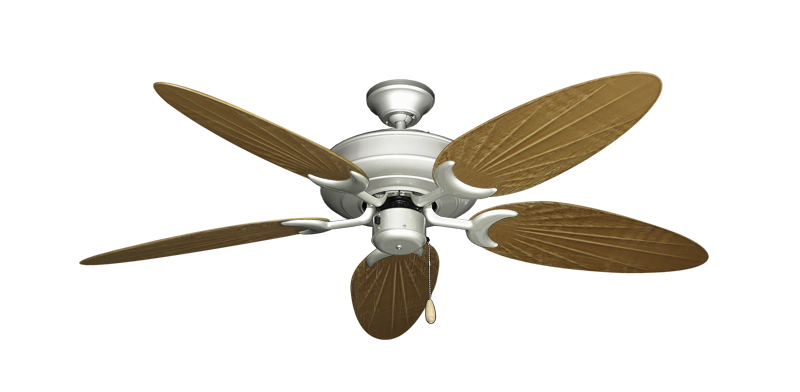 """Picture of Raindance Brushed Nickel with 52"""" Outdoor Palm Walnut Blades"""