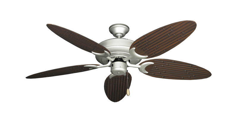"""Picture of Raindance Brushed Nickel with 52"""" Outdoor Bamboo Oil Rubbed Bronze Blades"""