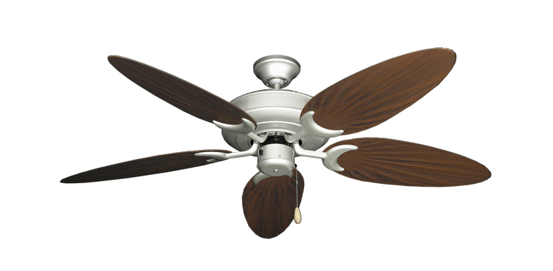 """Picture of Raindance Brushed Nickel with 52"""" Outdoor Palm Oil Rubbed Bronze Blades"""