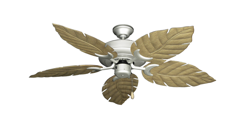 """Picture of Raindance Brushed Nickel with 52"""" Venetian Walnut Blades"""