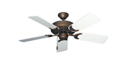 """Picture of Raindance Burnished Copper with 44"""" Pure White Gloss Blades"""