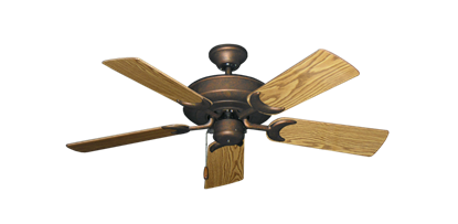 """Picture of Raindance Burnished Copper with 44"""" Oak Gloss Blades"""
