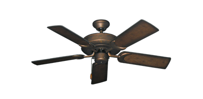 """Picture of Raindance Burnished Copper with 44"""" Distressed Hickory Blades"""