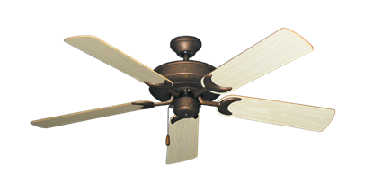 """Picture of Raindance Burnished Copper with 52"""" Bleached Oak Gloss Blades"""