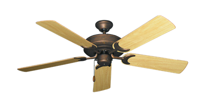 """Picture of Raindance Burnished Copper with 52"""" Honey Oak Gloss Blades"""