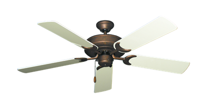 """Picture of Raindance Burnished Copper with 52"""" Antique White Gloss Blades"""