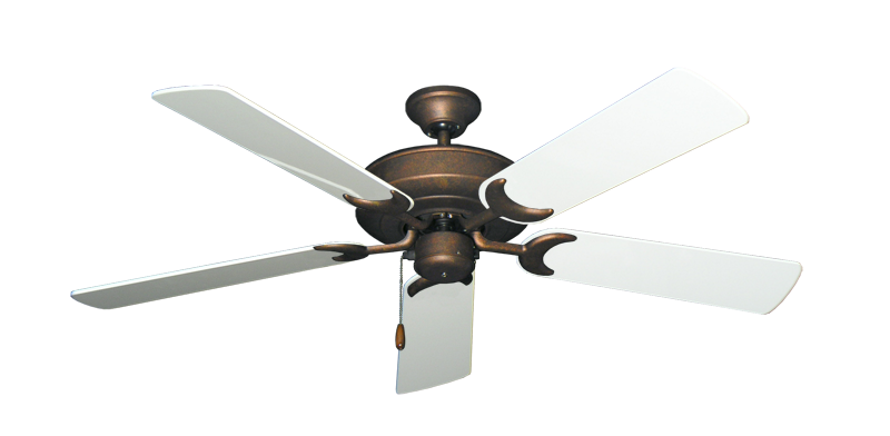 """Picture of Raindance Burnished Copper with 52"""" Pure White Gloss Blades"""