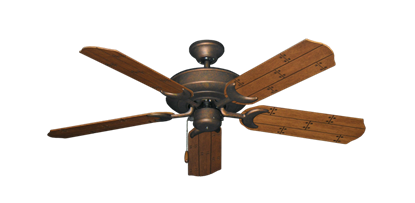 """Picture of Raindance Burnished Copper with 52"""" Cherry Plank Blades"""