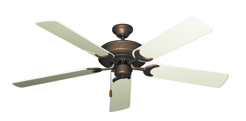 """Picture of Raindance Burnished Copper with 56"""" Antique White Gloss Blades"""