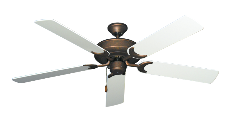 "Picture of Raindance Burnished Copper with 56"" Pure White Blades"