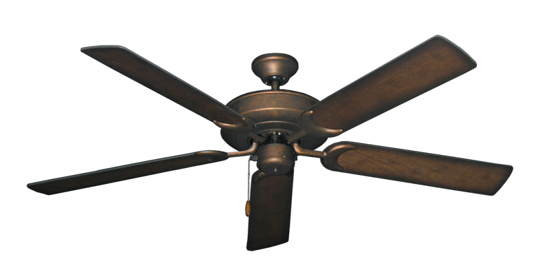 """Picture of Raindance Burnished Copper with 56"""" Distressed Hickory Blades"""