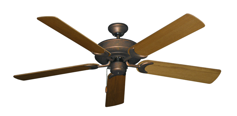 """Picture of Raindance Burnished Copper with 56"""" Light Oak Blades"""
