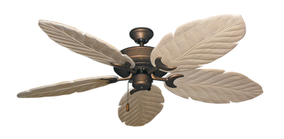 """Picture of Raindance Burnished Copper with 58"""" Series 100 Arbor Whitewash Blades"""