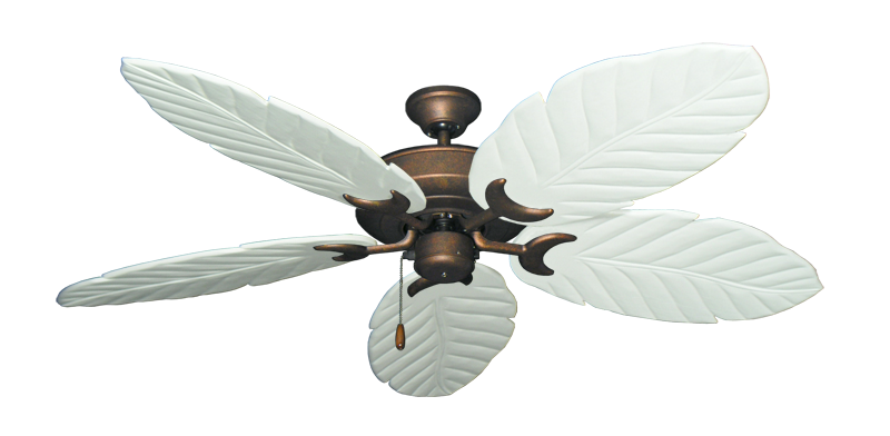 "Picture of Raindance Burnished Copper with 58"" Series 100 Arbor Pure White Blades"