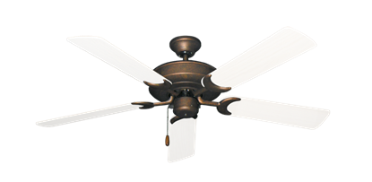 "Picture of Raindance Burnished Copper with 52"" Outdoor Pure White Blades"
