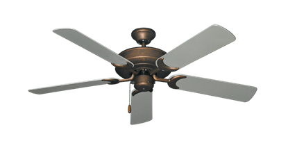"Picture of Raindance Burnished Copper with 52"" Outdoor Brushed Nickel Blades"