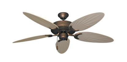 "Picture of Raindance Burnished Copper with 52"" Outdoor Palm Distressed White Blades"