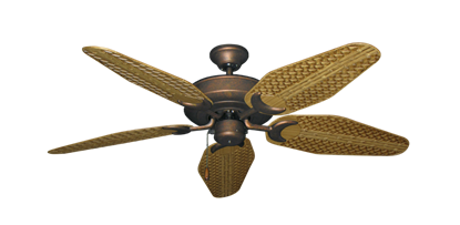 "Picture of Raindance Burnished Copper with 52"" Outdoor Weave Walnut Blades"