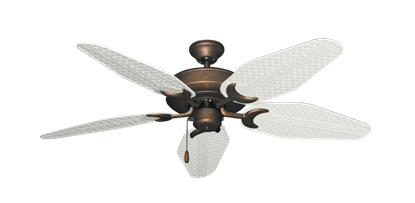 "Picture of Raindance Burnished Copper with 52"" Outdoor Weave Pure White Blades"