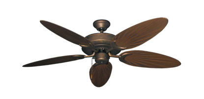"Picture of Raindance Burnished Copper with 52"" Outdoor Palm Oil Rubbed Bronze Blades"