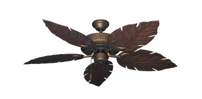 """Picture of Raindance Burnished Copper with 52"""" Venetian Oil Rubbed Bronze Blades"""