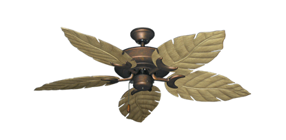 """Picture of Raindance Burnished Copper with 52"""" Venetian Walnut Blades"""