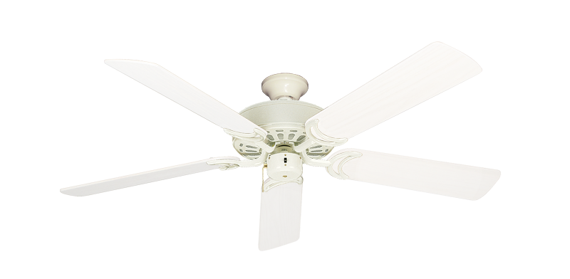 """Dixie Belle Antique White with 52"""" Outdoor Pure White Blades"""