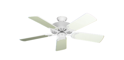 """Picture of Dixie Belle Pure White with 44"""" Antique White Gloss Blades"""