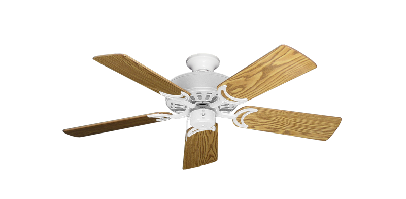 """Picture of Dixie Belle Pure White with 44"""" Oak Gloss Blades"""