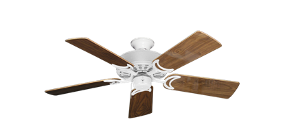 """Picture of Dixie Belle Pure White with 44"""" Walnut Gloss Blades"""