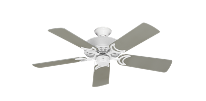"""Picture of Dixie Belle Pure White with 44"""" Satin Steel (painted) Blades"""