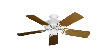 """Picture of Dixie Belle Pure White with 44"""" Light Oak Blades"""