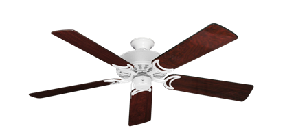 """Picture of Dixie Belle Pure White with 52"""" Cherrywood Gloss Blades"""