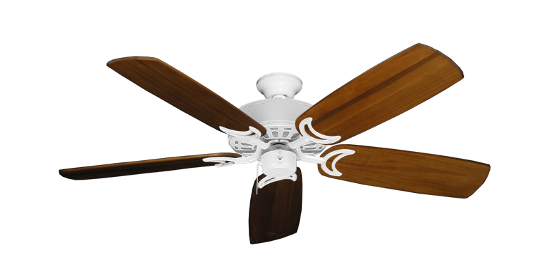 """Picture of Dixie Belle Pure White with 52"""" Series 425 Arbor Oak Blades"""