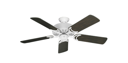 """Picture of Dixie Belle Pure White with 44"""" Outdoor Oil Rubbed Bronze Blades"""