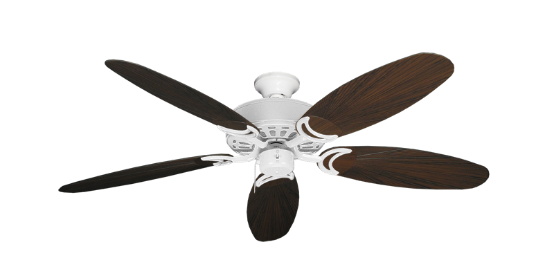 """Picture of Dixie Belle Pure White with 52"""" Outdoor Leaf Oil Rubbed Bronze Blades"""
