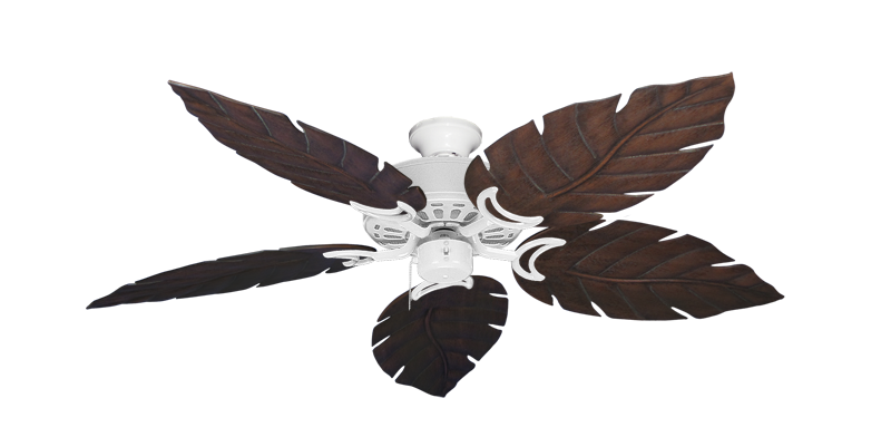 "Picture of Dixie Belle Pure White with 52"" Venetian Oil Rubbed Bronze Blades"