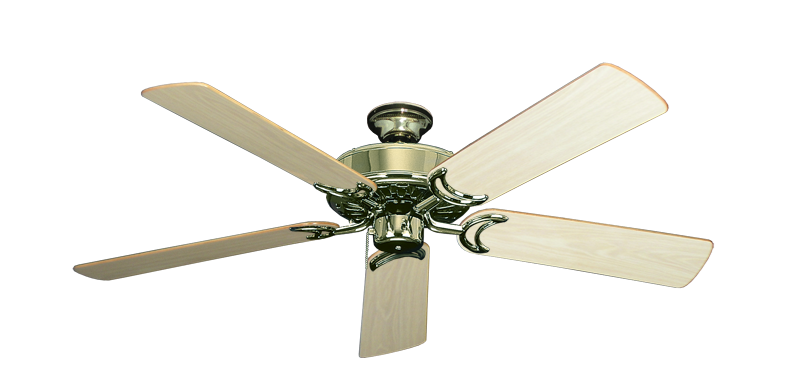 """Picture of Dixie Belle Bright Brass with 52"""" Bleached Oak Gloss Blades"""