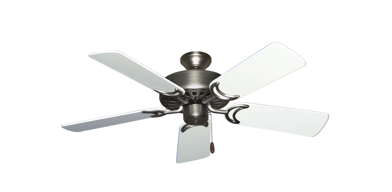"""Picture of Dixie Belle Satin Steel with 44"""" Pure White Gloss Blades"""