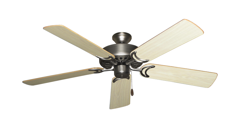 """Picture of Dixie Belle Satin Steel with 52"""" Bleached Oak Gloss Blades"""