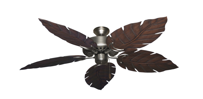"Picture of Dixie Belle Satin Steel with 52"" Venetian Oil Rubbed Bronze Blades"