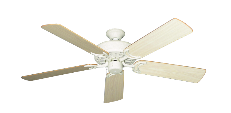 """Picture of Dixie Belle Navajo White with 52"""" Bleached Oak Gloss Blades"""