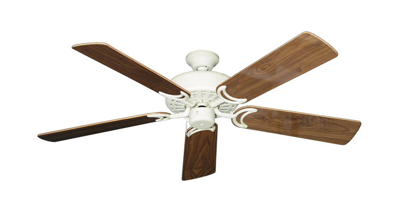 """Picture of Dixie Belle Navajo White with 52"""" Walnut Gloss Blades"""